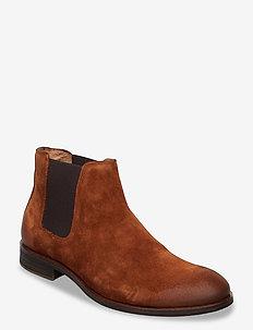 BIABYRON Leather Chelsea - bez sznurówek - cognac 1