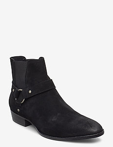 BIABEACK Suede Western - chelsea boots - black 1