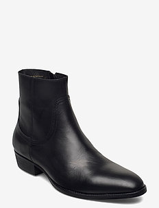 BIABECK Leather Boot - chelsea boots - black