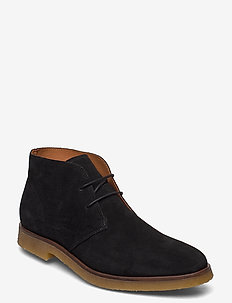 BIADINO Laced Up Boot - desert boots - black 1