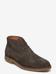BIADINO Laced Up Boot - desert boots - dark green 1