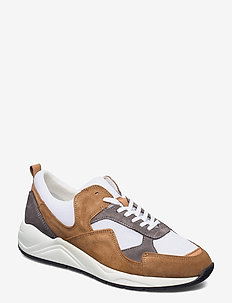 BIADAKOTA Suede Sneaker - lave sneakers - medium brown