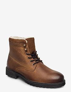 BIADAREN Warm Boot - veter schoenen - cognac