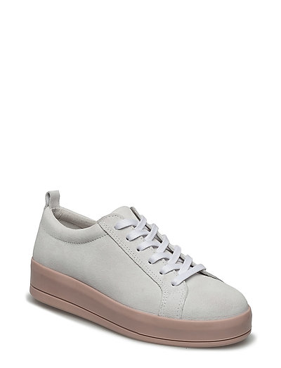 Flatform Suede Laced Up EXP17 - WHITE