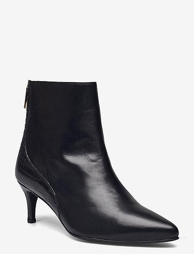 BIADEBORA Mix Boot - heeled ankle boots - black