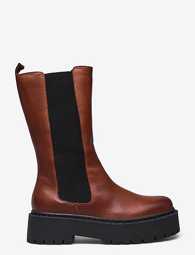BIADEB Long Boot - chelsea boots - cognac