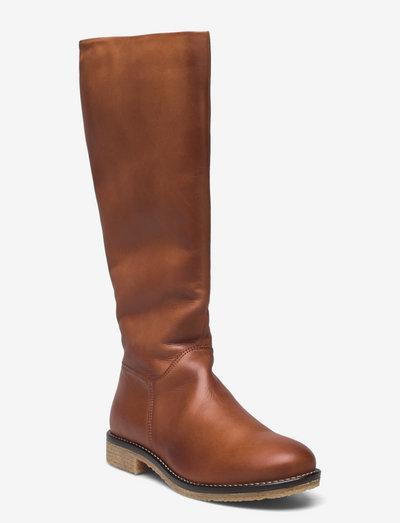 BIAATALIA Winter Long Boot - long boots - cognac