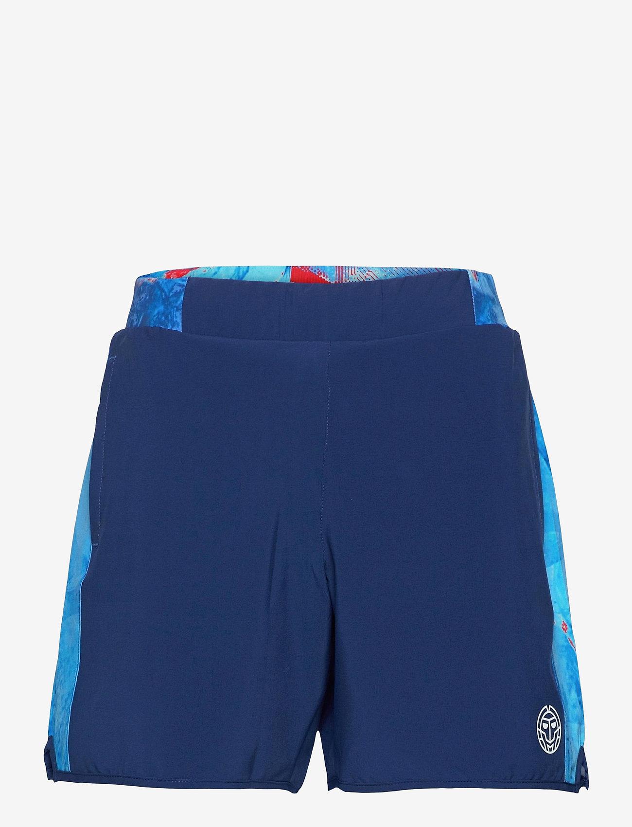 BIDI BADU - Adnan 7in Jeans Tech Shorts - training korte broek - dark blue, aqua - 0