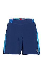 Adnan 7in Jeans Tech Shorts - DARK BLUE, AQUA