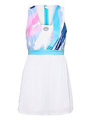 Ankea Tech Dress (2 In 1) - WHITE, AQUA