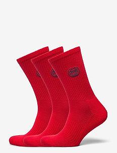 Matayo Crew Tech Socks 3 Pack - kousen - red
