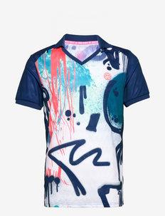 Eren Tech Polo - t-shirts - white, dark blue