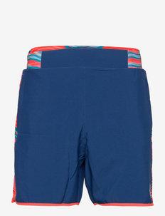 Lean 7in Tech Shorts - träningsshorts - neon red, dark blue