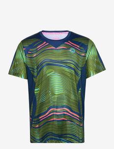 Jiro Tech Tee - t-shirts - green, dark blue