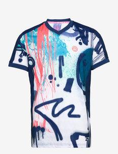 Bijan Tech Tee - t-shirts - white, dark blue