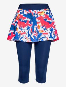 Faida Tech Scapri - training korte broek - dark blue, neon red