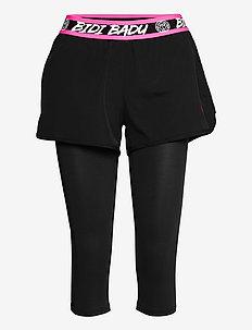 Kara Tech Shopri - trening shorts - black, black