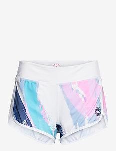 Hulda Tech 2 In 1 Shorts - trening shorts - white, aqua