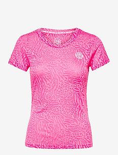 Anni Burnout Tech Tee - t-shirts - pink