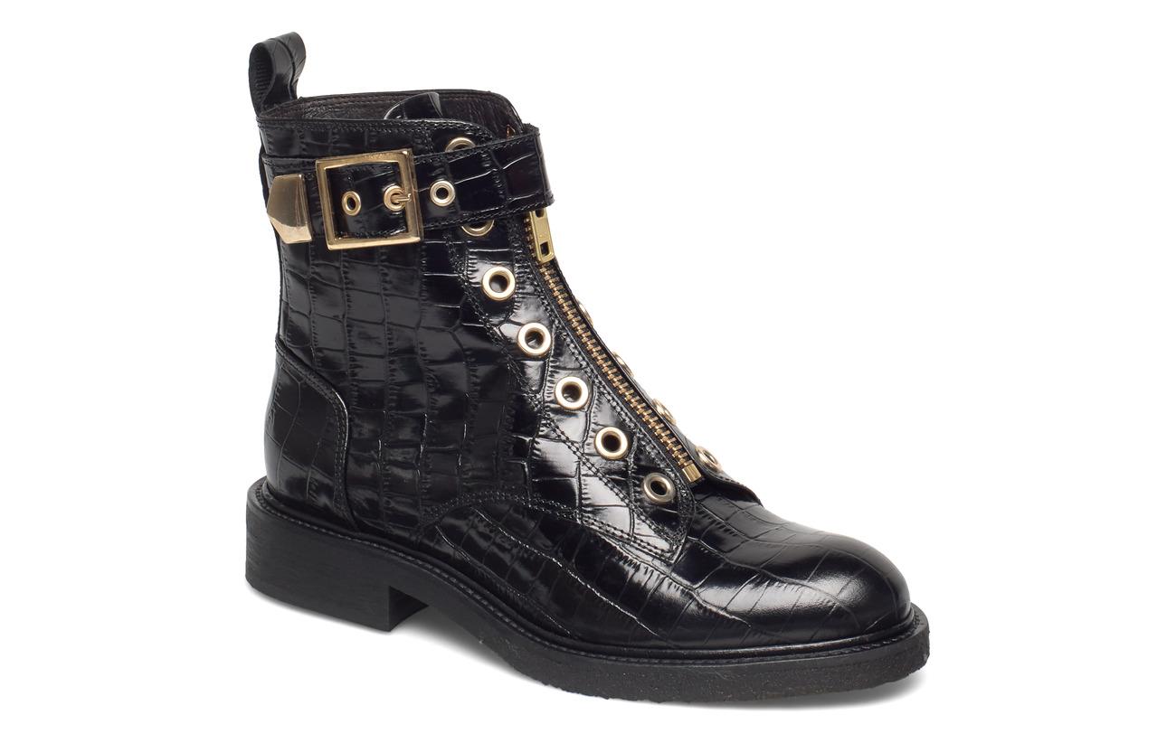 Billi Bi Boots 3523 - BLACK CROCO/GOLD 402 X