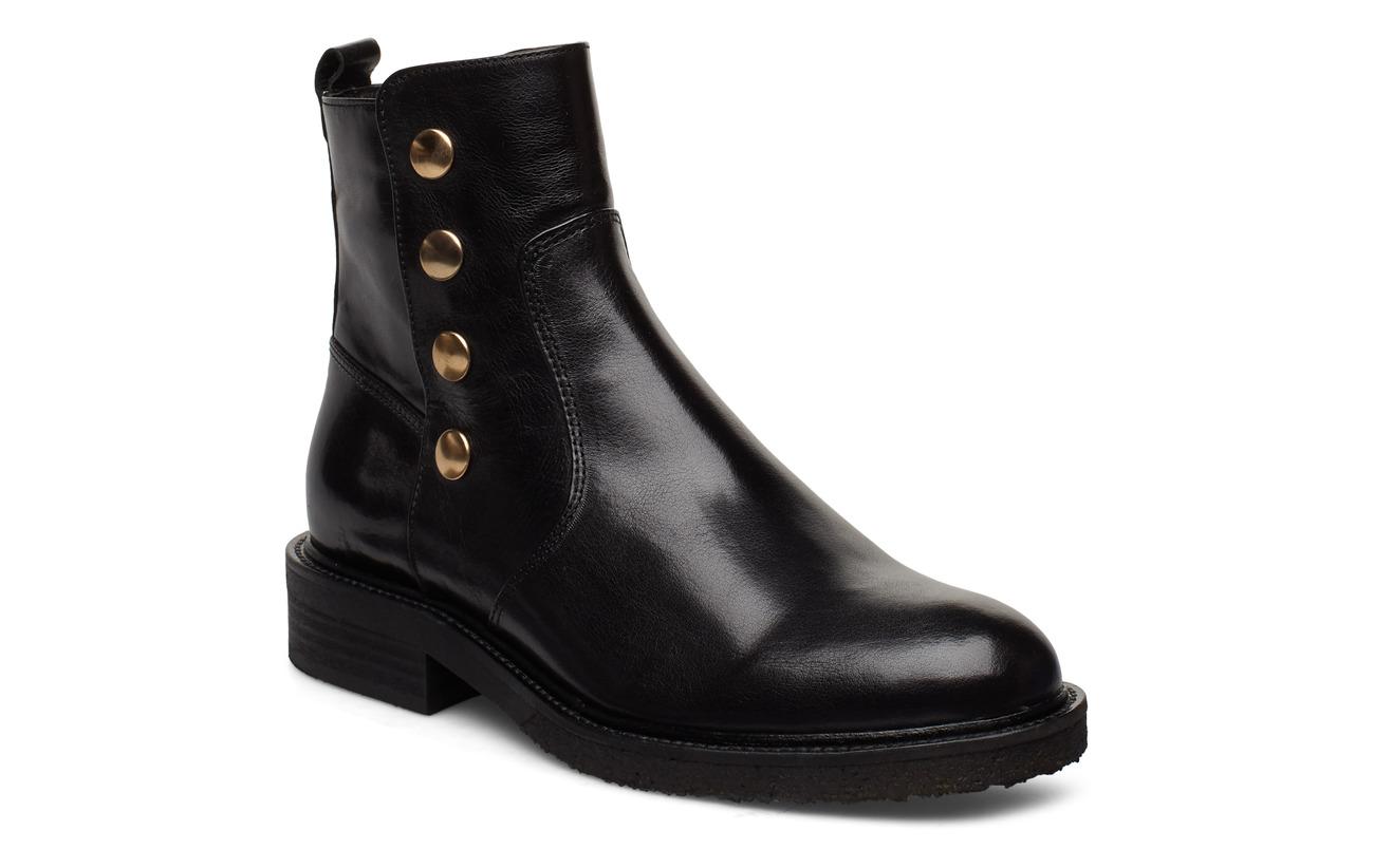 Billi Bi Boots 3526 - BLACK BABY BUFFALO/GOLD 602