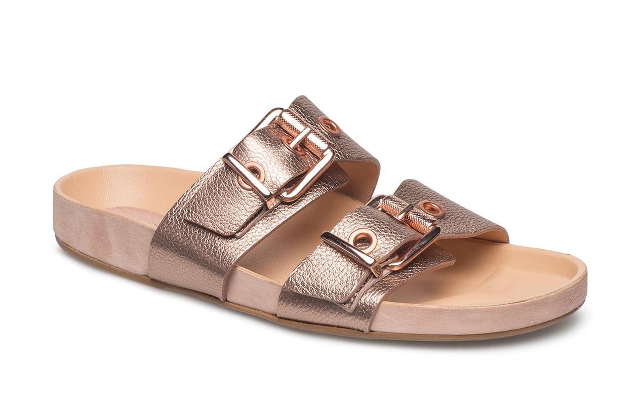 Billi Caoutchouc Bi Semelle Rio Cuir Intérieure Empeigne Gold Sandals Canella Metal Extérieure rose 82 rr6wpB