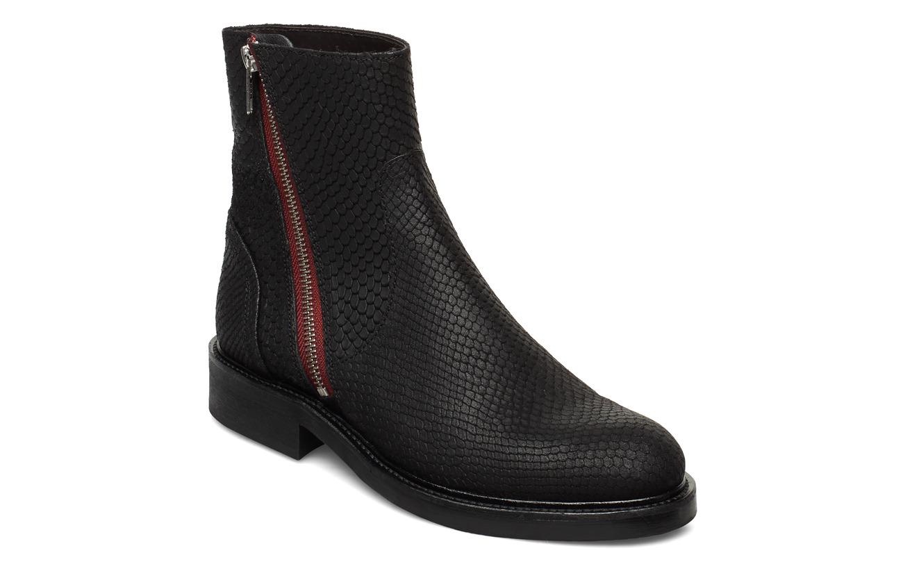 Billi Bi Boots 83450 - BLACK SNAKE/RED ZIP 30
