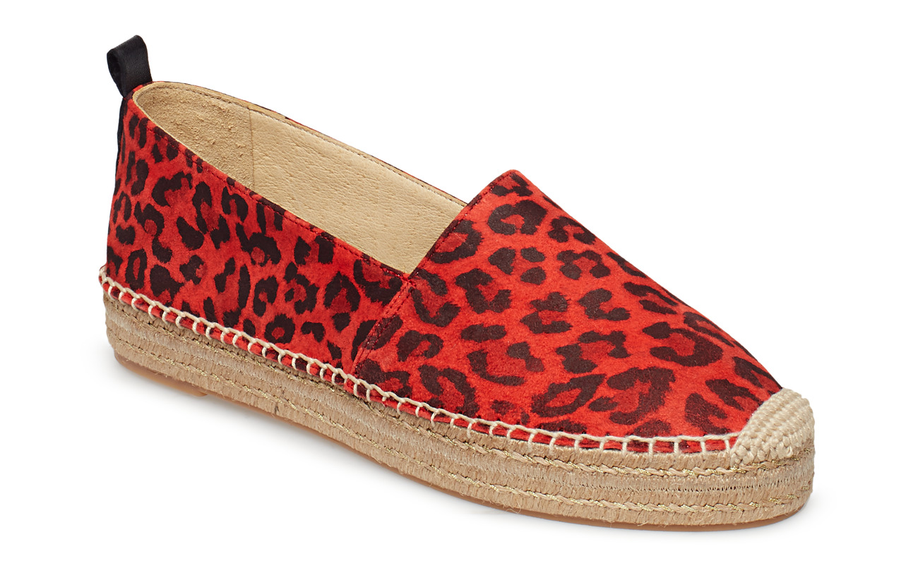 Billi Bi SHOES - RED LEOPARDO SUEDE 571