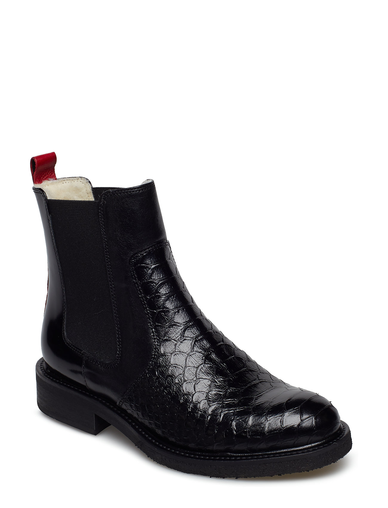 Image of Warm Lining 17424 Shoes Chelsea Boots Ankle Boots Ankle Boot - Flat Sort Billi Bi (3458924003)