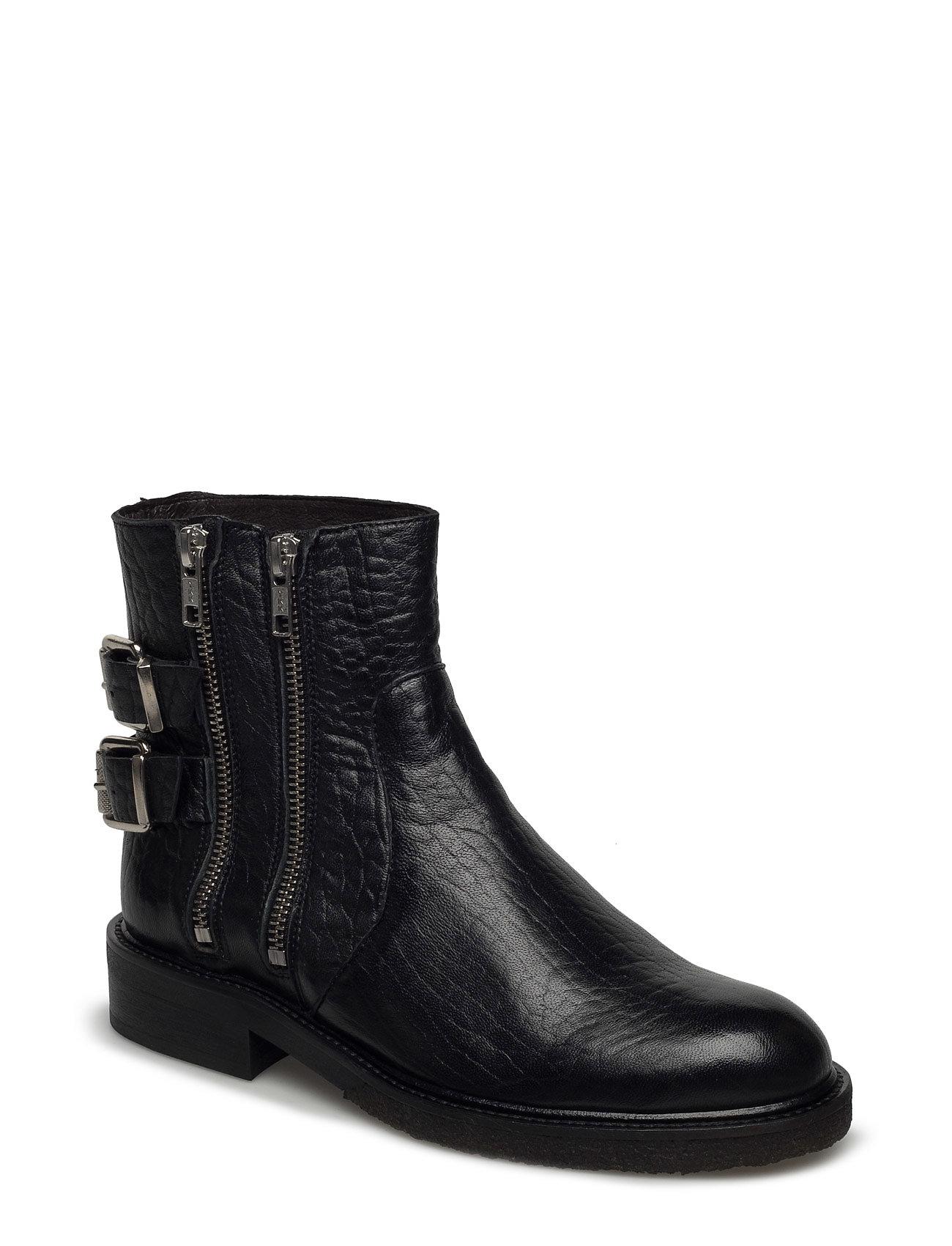 805c4c71 Billi Bi ankelstøvler – Boots til dame i BLACK SUEDE 503 - Pashion.dk