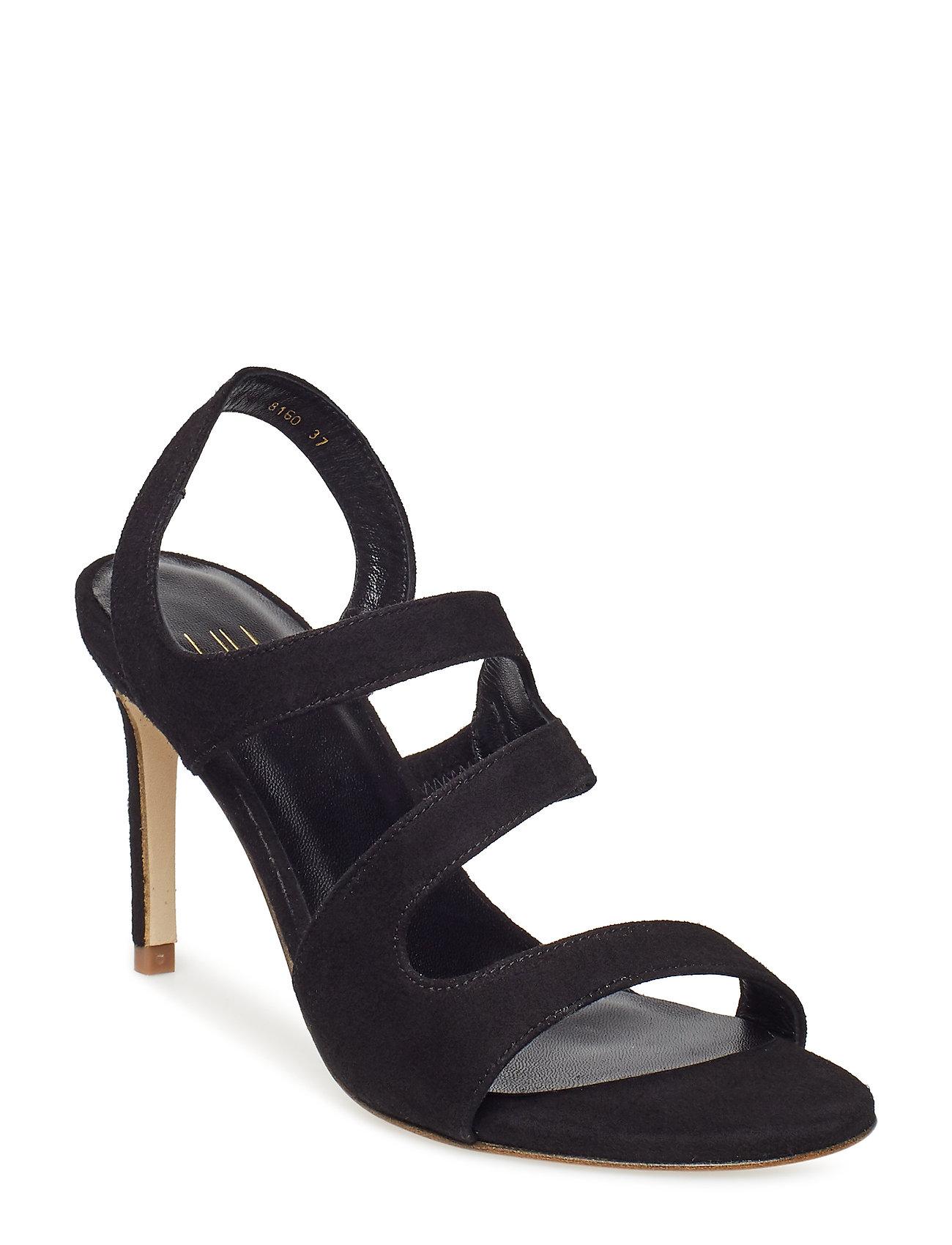 Sandals 8160 Sandal Med Hæl Sort Billi Bi