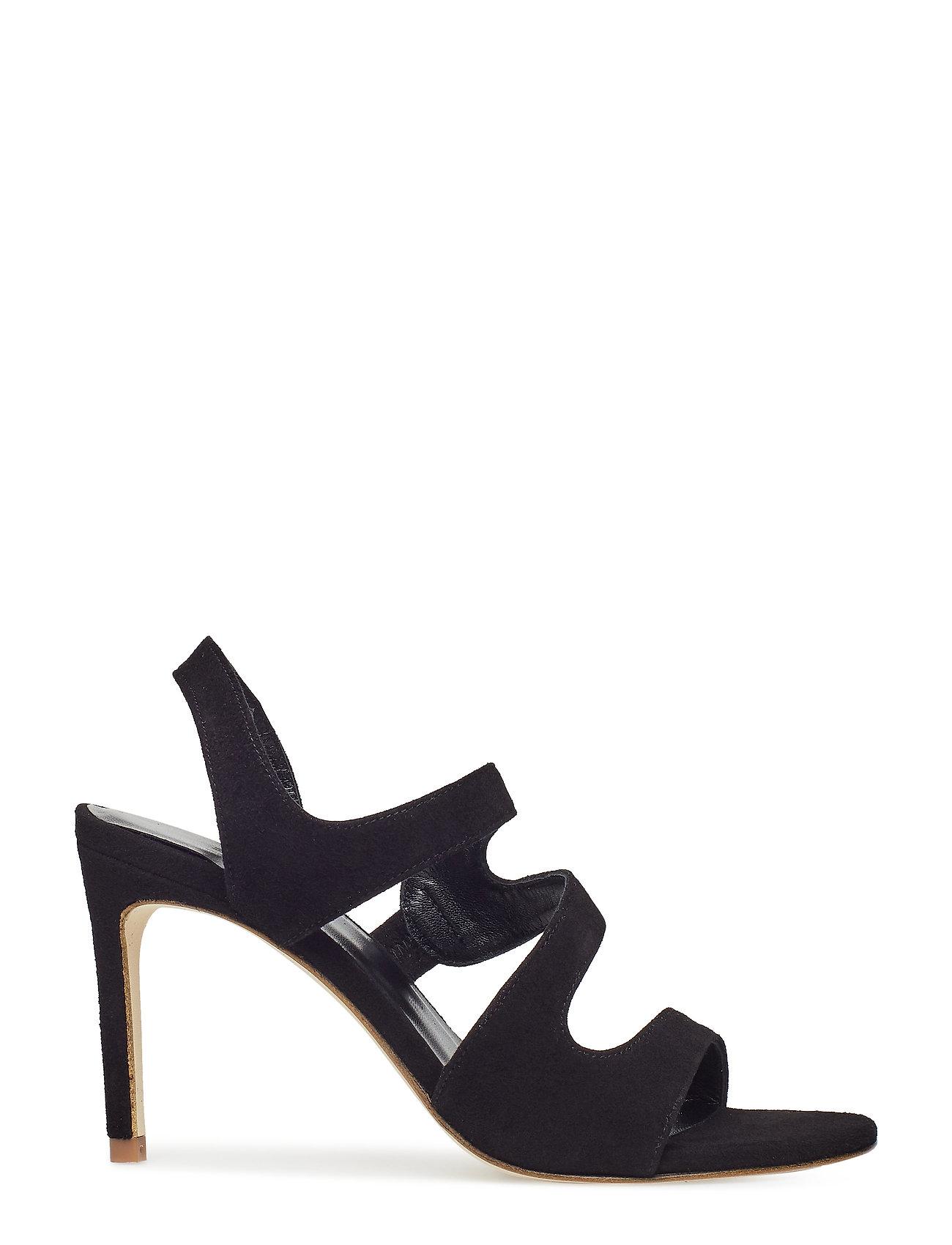 29cc1f441e3 Sandals 8160 højhælede sandaler fra Billi Bi til dame i BLACK SUEDE ...