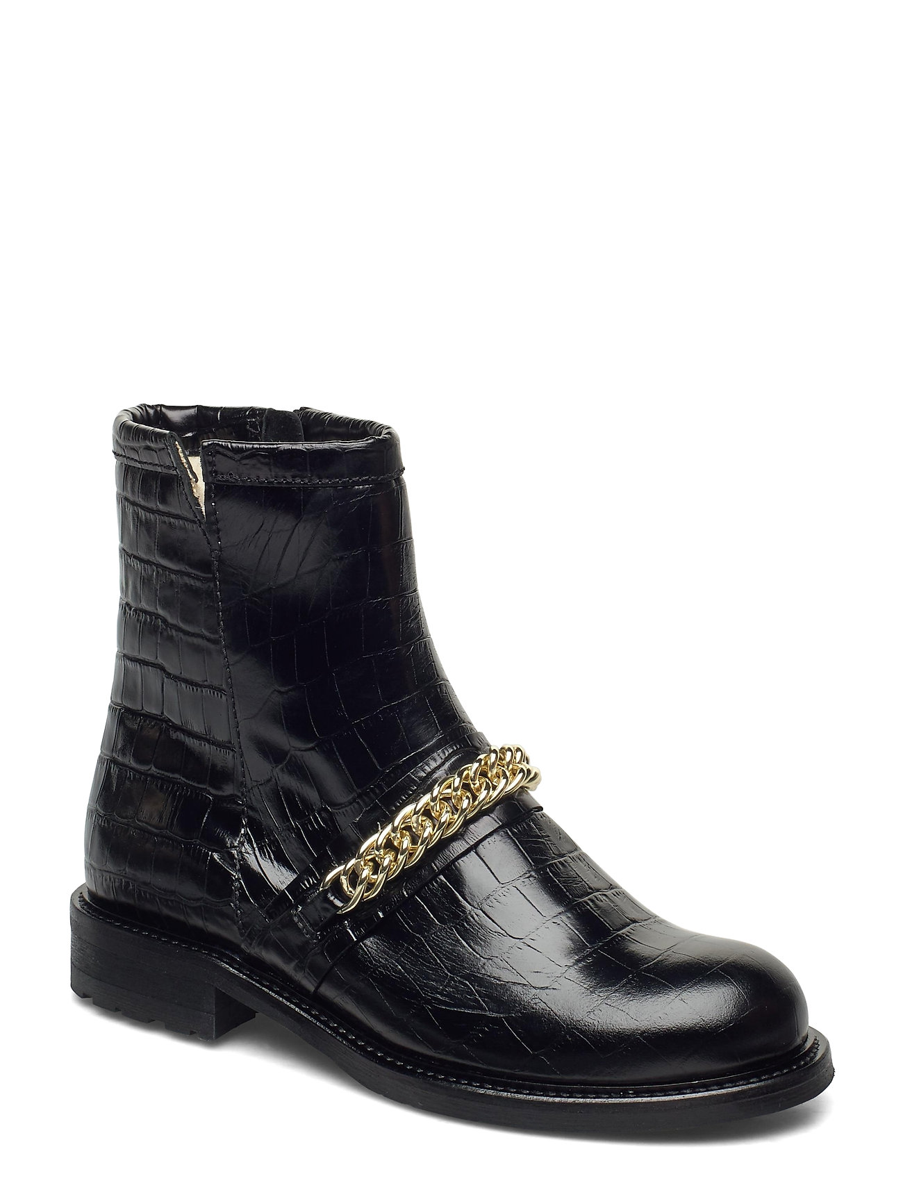Image of Warm Lining 95891 Shoes Boots Ankle Boots Ankle Boot - Flat Sort Billi Bi (3456993801)