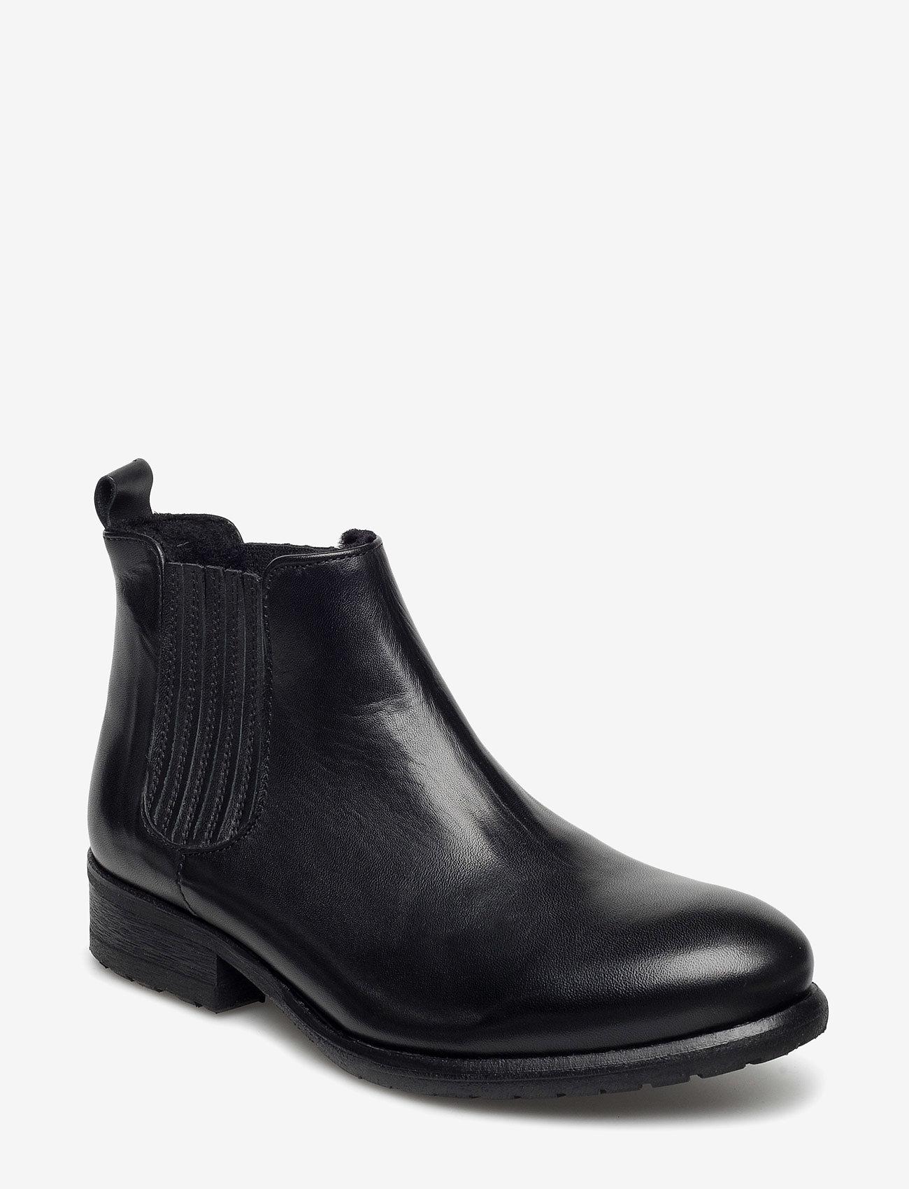 Billi Bi - BOOTS - flate ankelstøvletter - black calf 60 - 0
