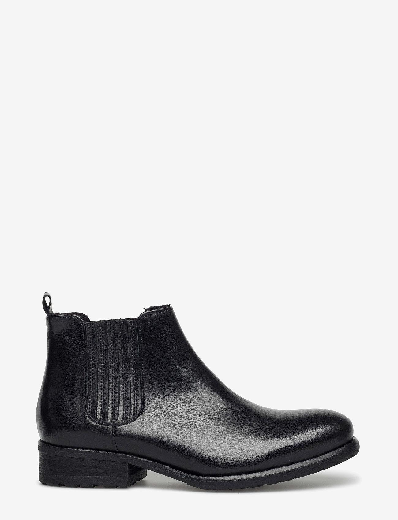 Billi Bi - BOOTS - flate ankelstøvletter - black calf 60 - 1