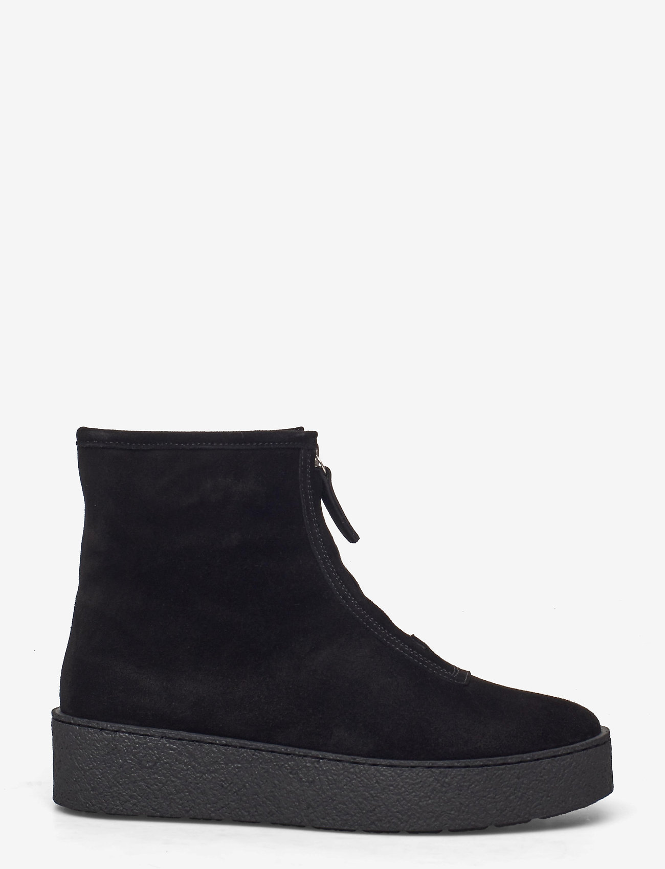 Billi Bi - Warm lining 14860 - flat ankle boots - black suede/silver 503 - 1