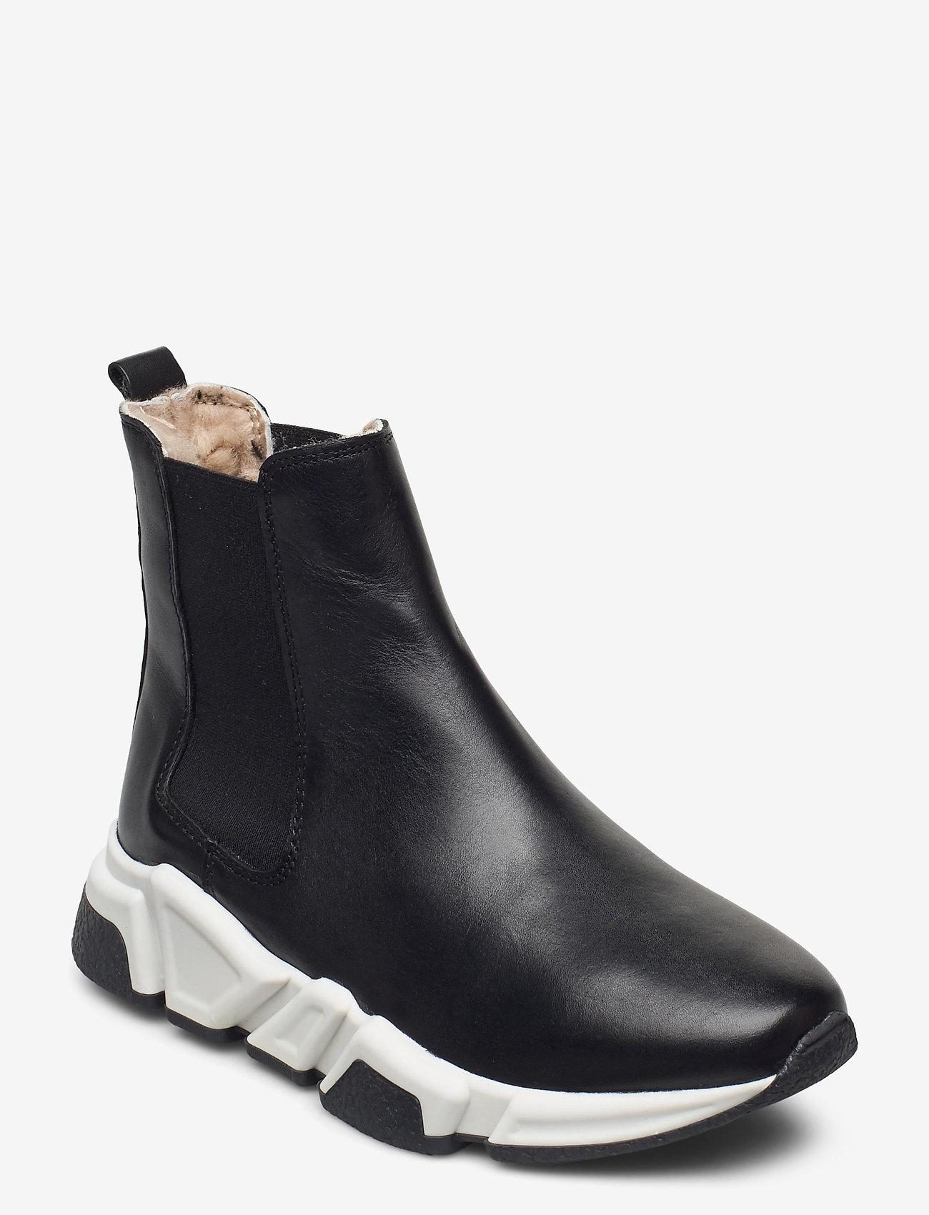Billi Bi - Warm lining 14866 - flat ankle boots - black calf 80 - 0