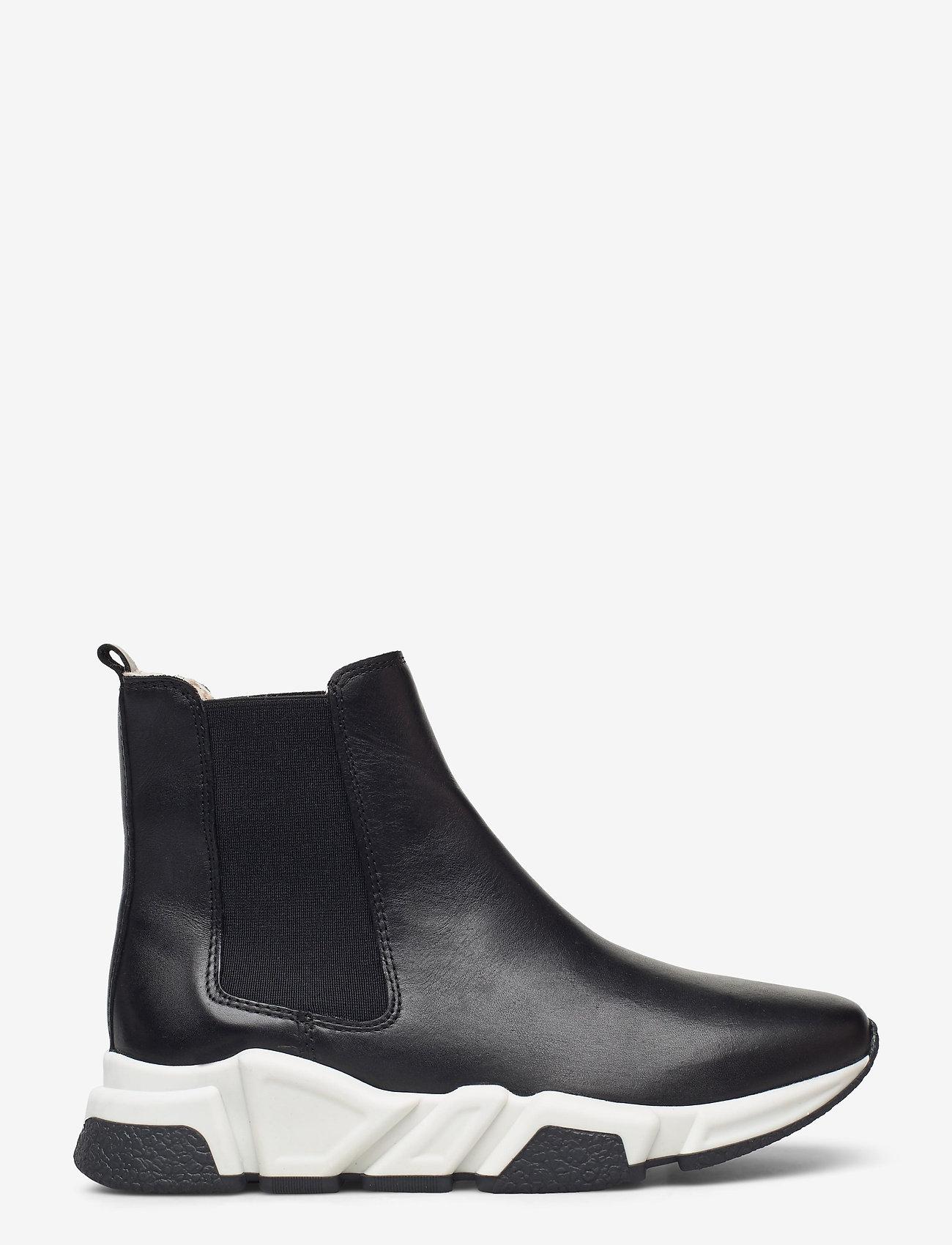 Billi Bi - Warm lining 14866 - flat ankle boots - black calf 80 - 1