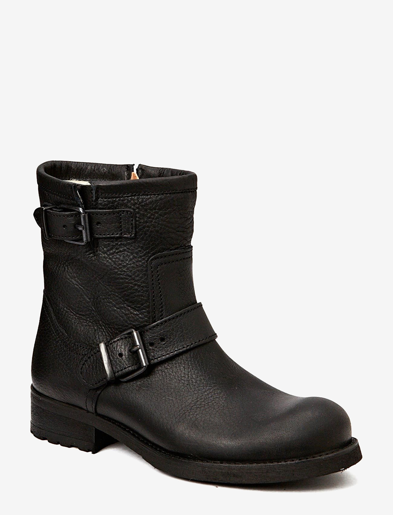 Billi Bi - BOOTS - WARM LINING - flate ankelstøvletter - black tomcat 80 - 0