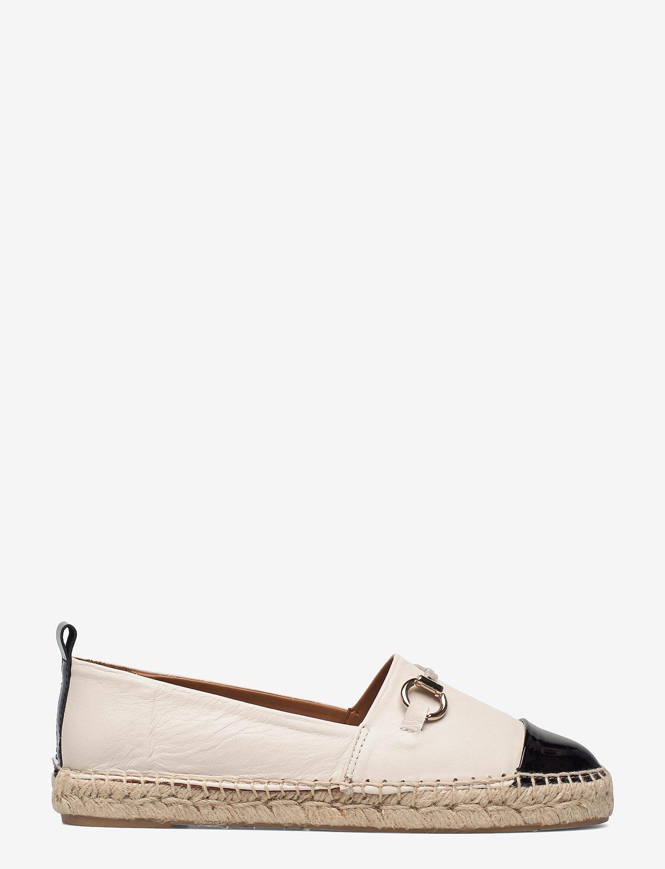 Billi Bi - Espadrilles 2660 - flade espadrillos - black patent/white nappa 273 - 1