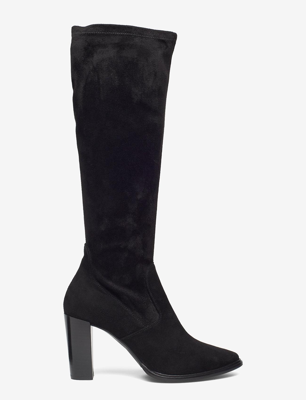 Billi Bi - Long Boots 3396 - pitkävartiset saappaat - black suede/black stretch 500