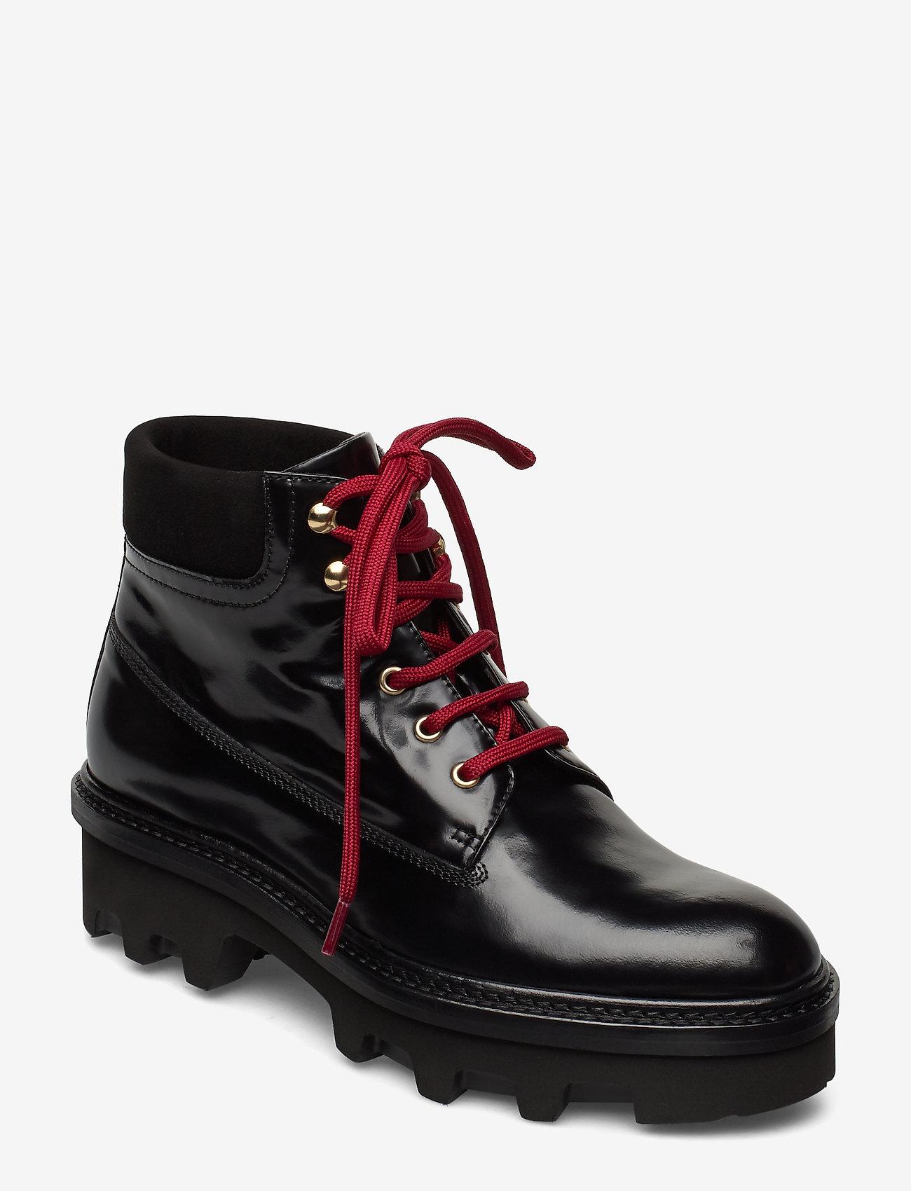 Billi Bi - Boots 3595 - flate ankelstøvletter - black polido/gold 950 - 0