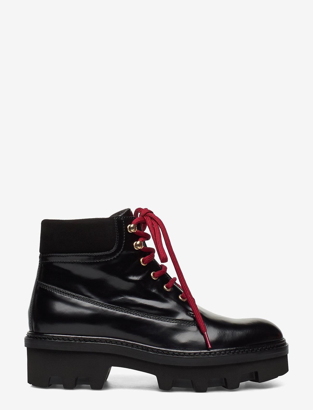 Billi Bi - Boots 3595 - flate ankelstøvletter - black polido/gold 950 - 1