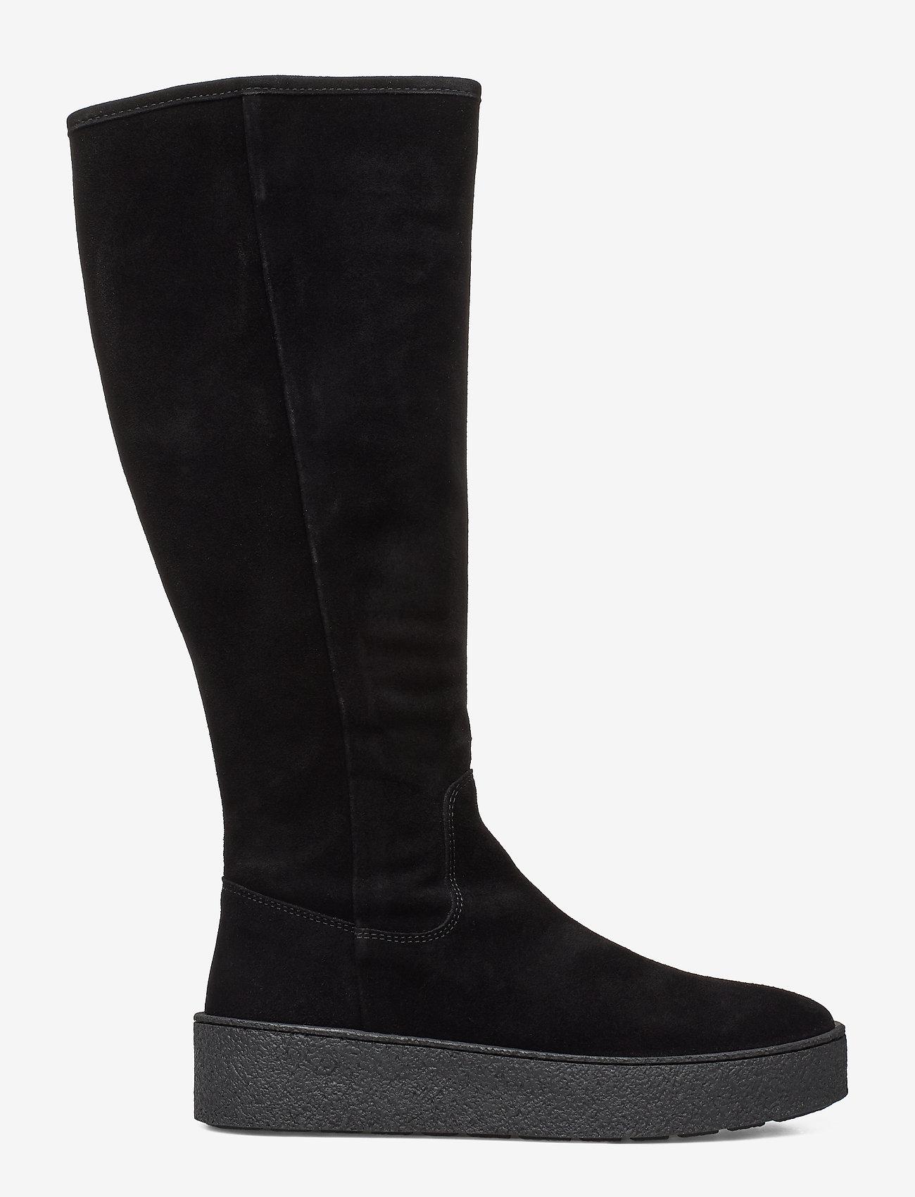 Billi Bi - Warm lining 3604 - pitkävartiset saappaat - black suede 503/silver 503