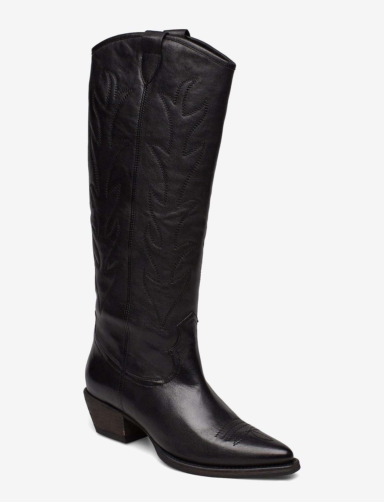 Billi Bi - Long Boots 3614 - pitkävartiset saappaat - black nappa 70 Å