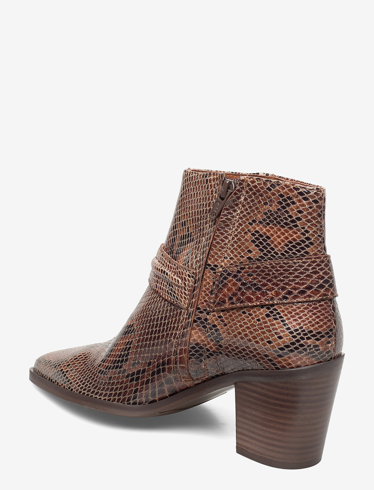 Booties 3722 (Brown Yilan Snake/gold 332) - Billi Bi