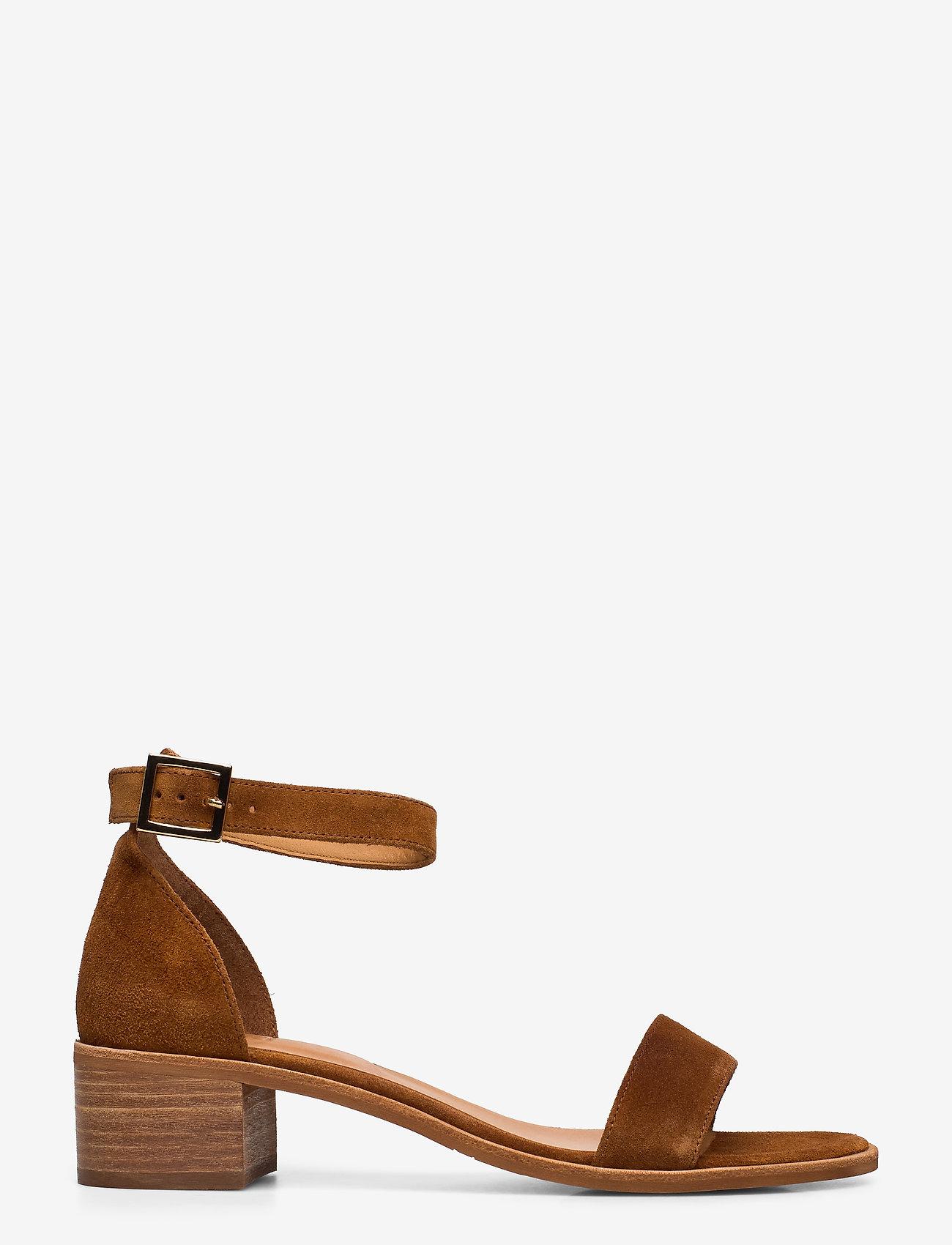 Billi Bi - Sandals 4182 - høyhælte sandaler - cognac 1613 babysilk suede 555 - 1
