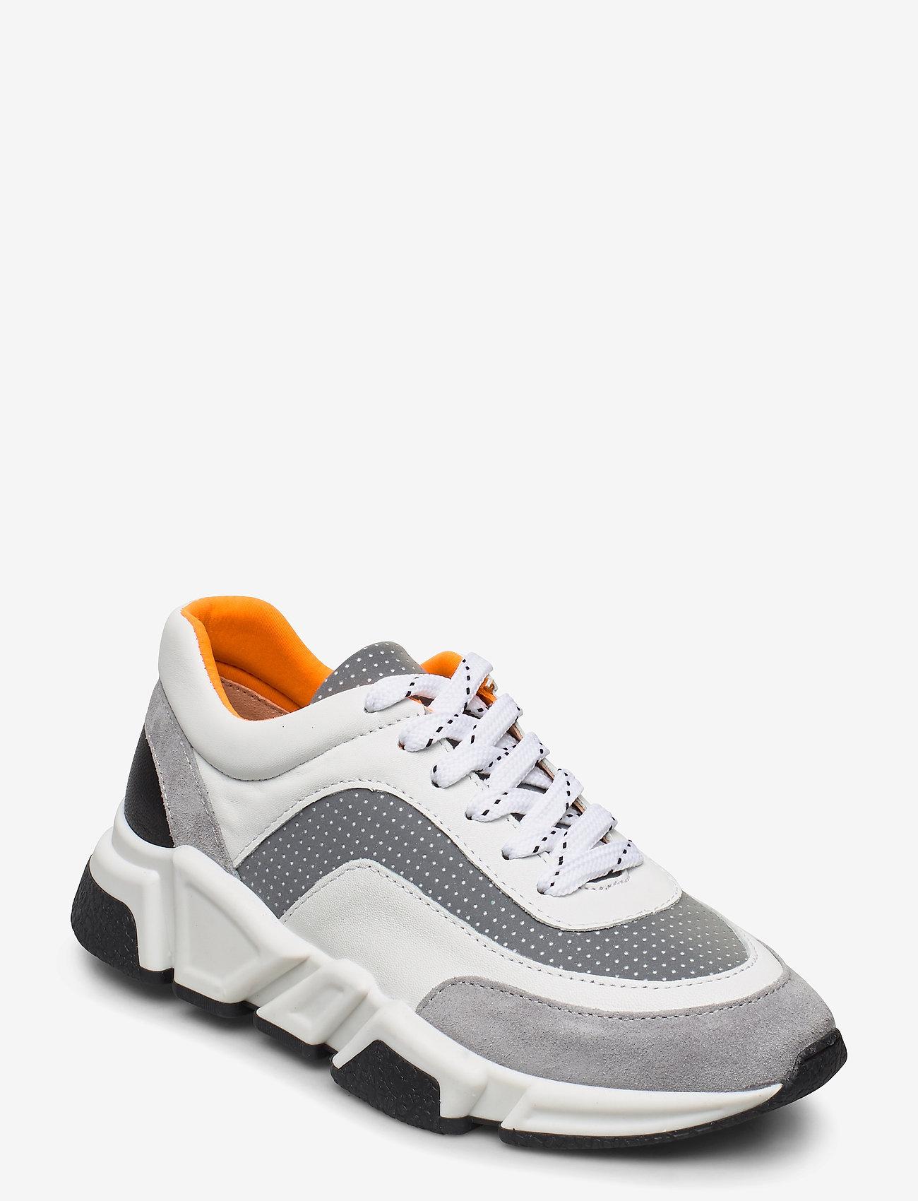 Billi Bi - Sport 4260 - chunky sneakers - grey/white/orange comb.537 - 0
