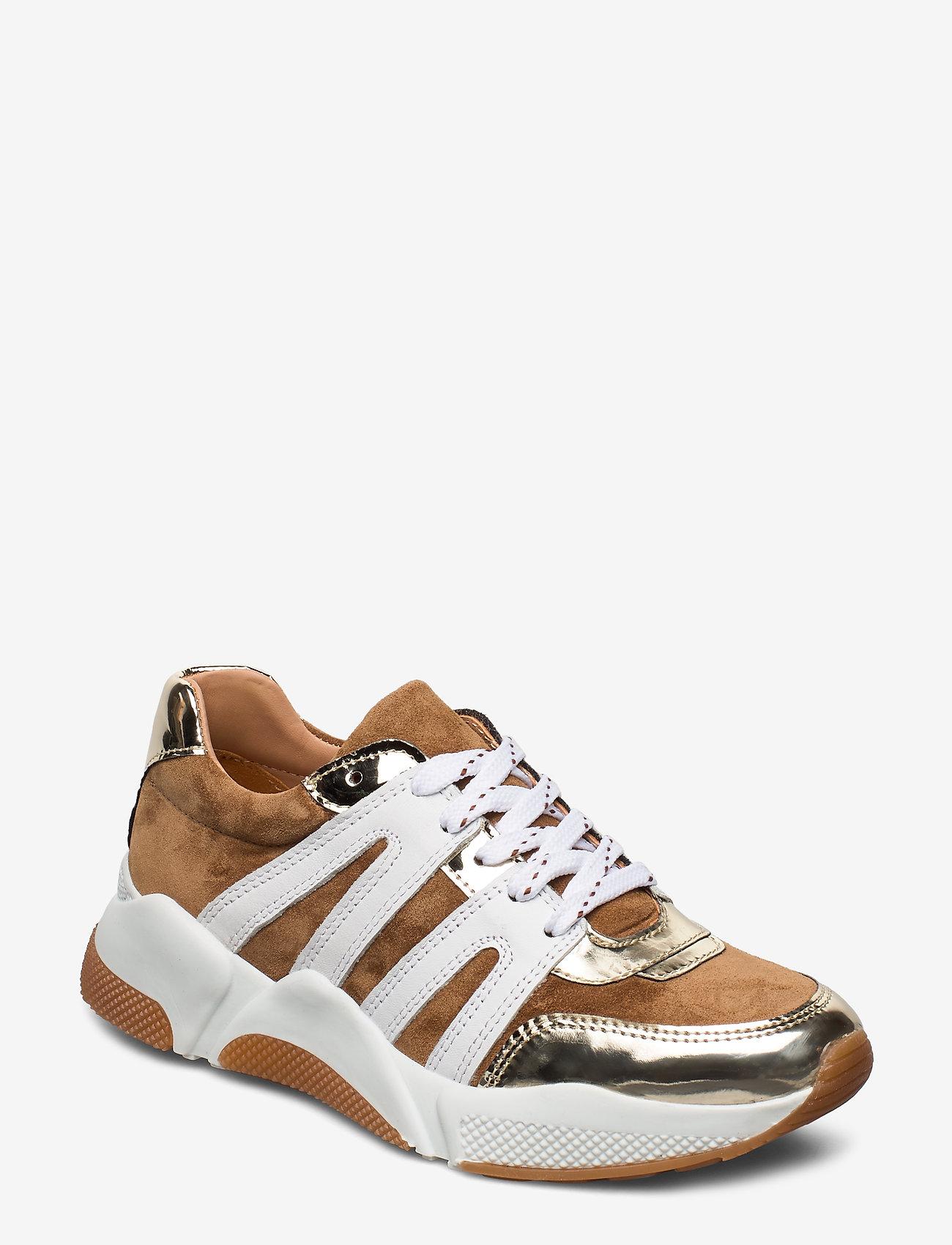 Billi Bi - Sport 4280 - sneakers med lav ankel - gold/beige/white comb.222 - 0