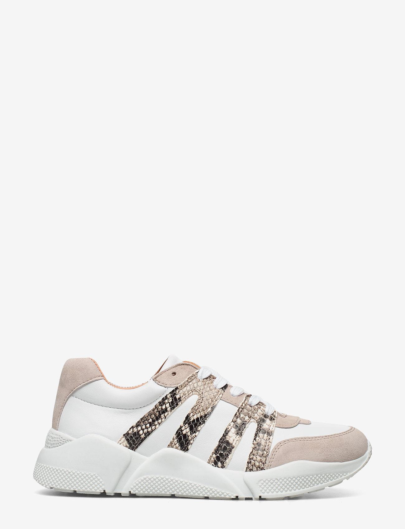 Billi Bi - Sport 4280 - sneakers med lav ankel - beige/white/beige snake 733 - 1